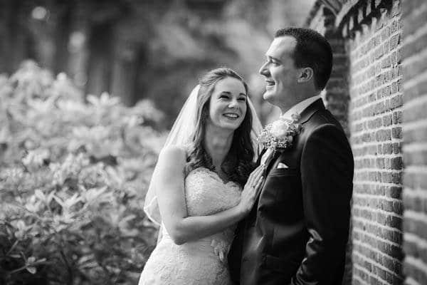 Een trouwfoto van een bruidspaar in Culemborg Neerijnen