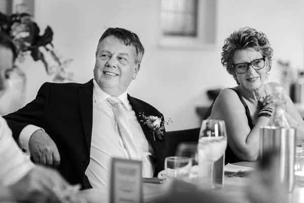 Bruidspaar aan tafel in het Twiskerslot