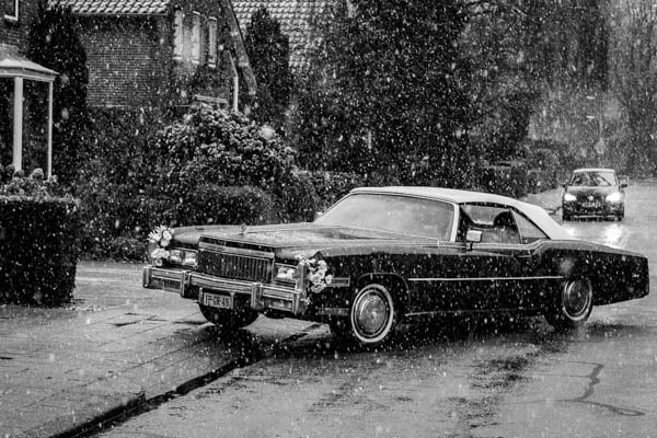 Trouwauto Cadillac Eldorade Convertible uit 1975