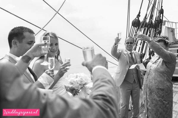 Toost op het bruidspaar Zeilschip de Stedemaeght