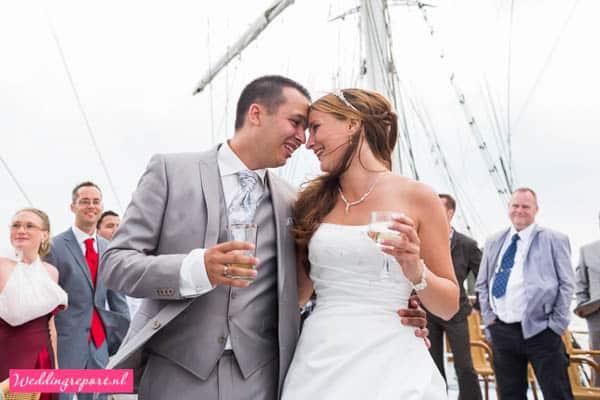 Bruidspaar Zeilschip de Stedemaeght