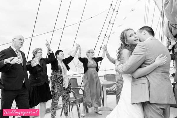 Dansend Bruidspaar Zeilschip de Stedemaeght