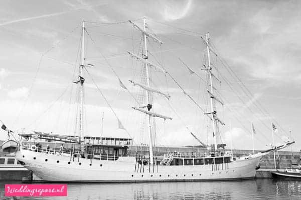 Zeilschip de Stedemaeght in Batavia Haven Lelystad