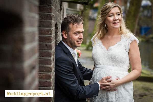 Trouwfoto's zwangere bruid Utrecht