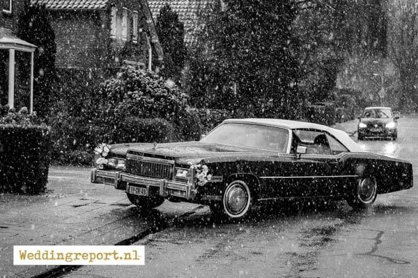 Trouwauto Cadillac Eldorade Convertible uit 1975 in Putten