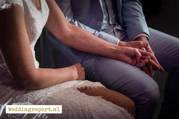 Bruidspaar bruiloft in De Rede van Dronten